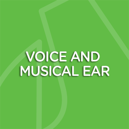 Voice and musical ear
